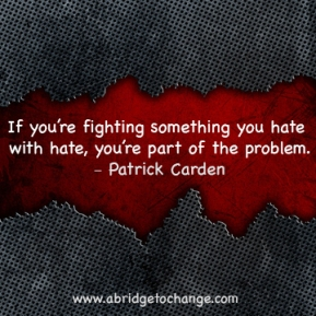Fighting Hate With Hate